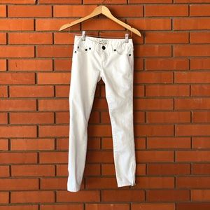 FREE PEOPLE White Skinny  Jeans Size 24